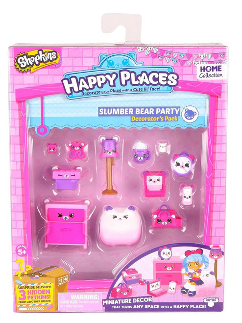 Shopkins Happy Places Series 2 Slumber Bear Party Decorator's Pack