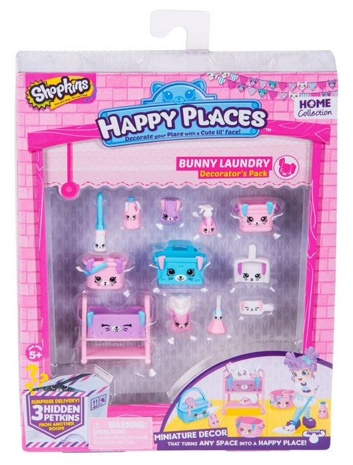 Shopkins Happy Places Series 2 Bunny Laundry Decorator's Pack