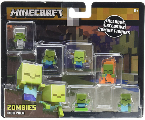 Minecraft Zombies Mob Pack Mini Figure 6-Pack
