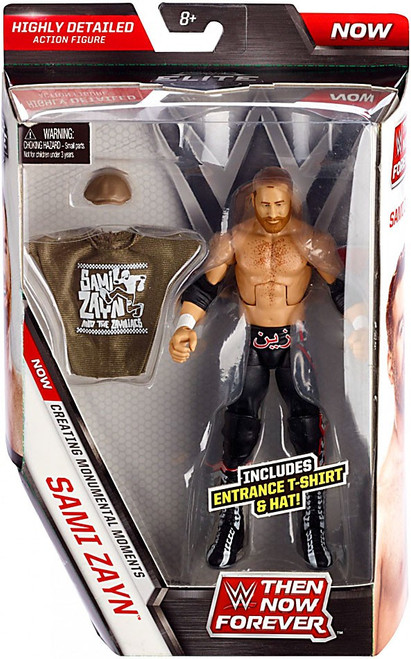 WWE Wrestling Elite Collection Then Now Forever Sami Zayn Exclusive Action Figure [Entrance T-Shirt & Hat]