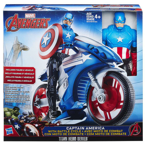 Marvel Avengers Titan Hero Series Captain America & Battle Cycle Action Figure & Vehicle Set