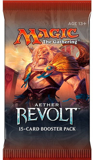 MtG Trading Card Game Aether Revolt Russian Booster Pack
