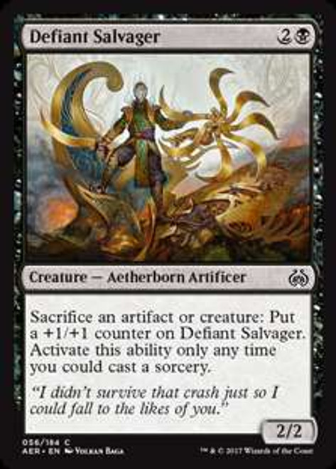 MtG Aether Revolt Common Defiant Salvager #56