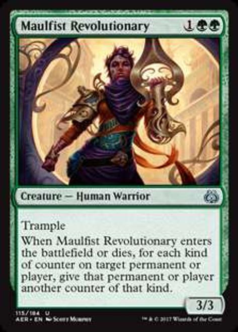 MtG Aether Revolt Uncommon Maulfist Revolutionary #115