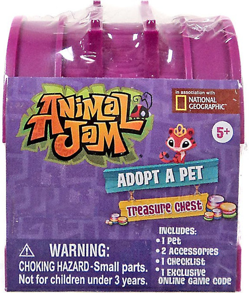 Animal Jam Adopt A Pet Treasure Chest Exclusive Mystery Pack [RANDOM Color!]