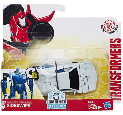 Transformers Robots in Disguise 1 Step Changers Sideswipe (White) Action Figure [Combiner Force]