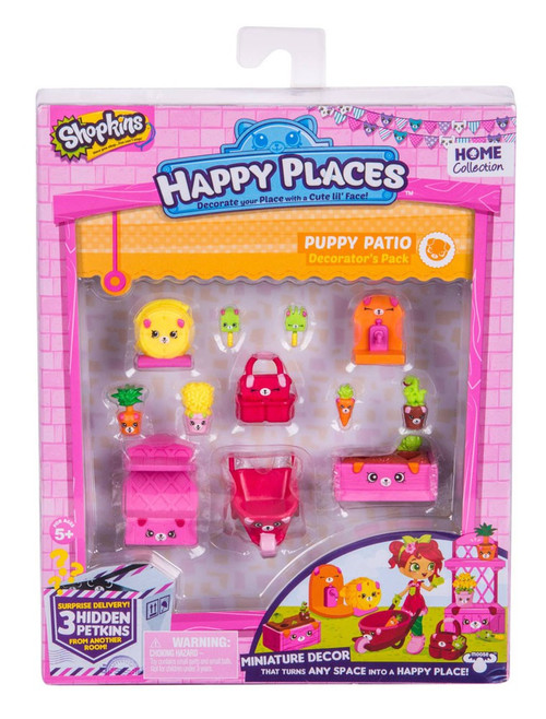Shopkins Happy Places Series 2 Puppy Patio Decorator's Pack
