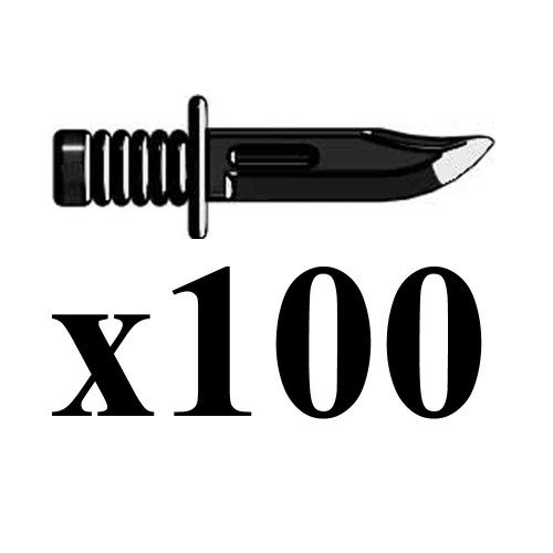 BrickArms Lot of 100 Combat Knife 2.5-Inch [Black]
