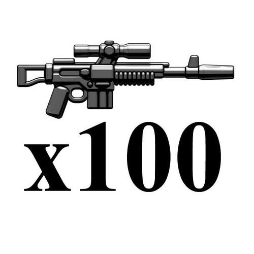 BrickArms Lot of 100 A295 Blaster Rifle 2.5-Inch [Black]