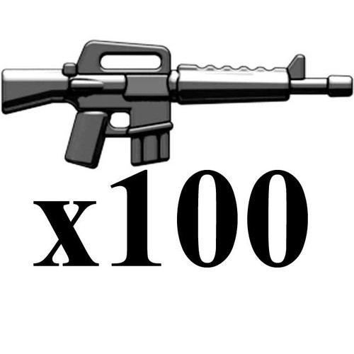 BrickArms Lot of 100 M16 2.5-Inch [Black]