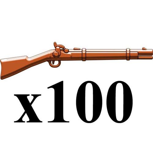 BrickArms Lot of 100 Caplock Musket 2.5-Inch [Brown]