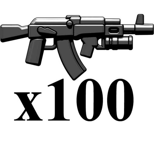 BrickArms Lot of 100 AK-GL 2.5-Inch [Black]