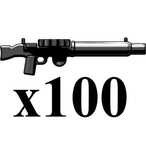BrickArms Lot of 100 Lewis Heavy Machine Gun 2.5-Inch [Black]