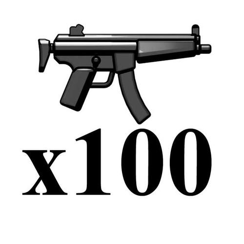 BrickArms Lot of 100 Combat SMG [Modern Combat] 2.5-Inch [Black]