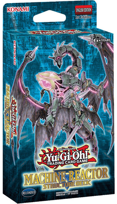 YuGiOh Trading Card Game Machine Reactor Structure Deck