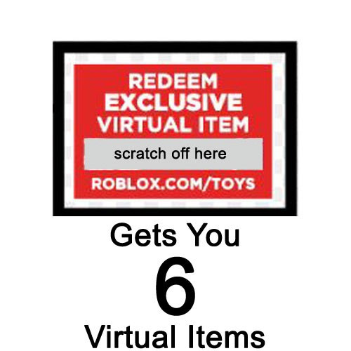 Roblox Redeem 6 Virtual Items 3-Inch Online Code [1 Code Gets You 6 Items]