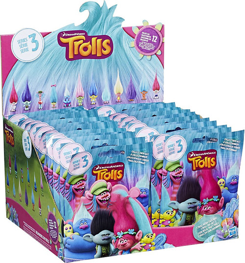 Trolls Series 3 Mystery Box [24 Packs]