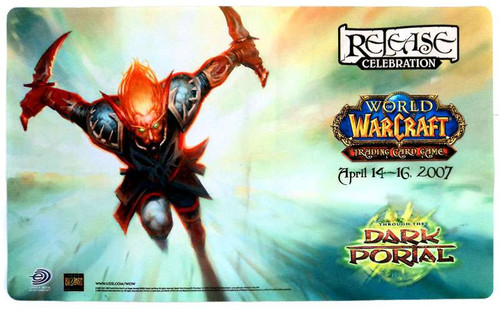 World of Warcraft Card Supplies Dark Portal Release Celebration Play Mat