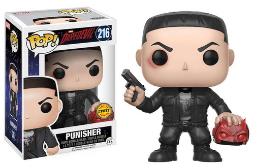 Funko Daredevil Netflix POP! Marvel Punisher Vinyl Bobble Head #216 [Holding Mask, Chase Version]