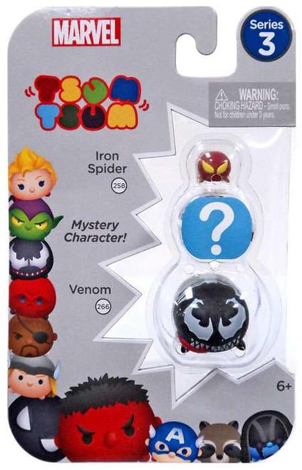 Marvel Tsum Tsum Series 3 Iron Spider & Venom 1-Inch Minifigure 3-Pack #258 & 266