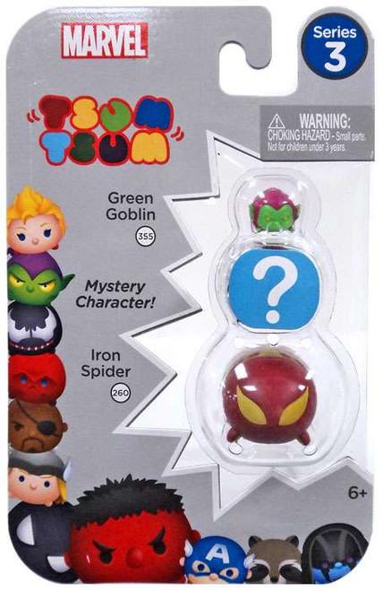 Marvel Tsum Tsum Series 3 Green Goblin & Iron Spider 1-Inch Minifigure 3-Pack #355 & 260