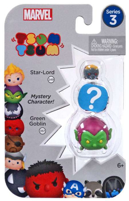 Marvel Tsum Tsum Series 3 Star-Lord & Green Goblin 1-Inch Minifigure 3-Pack #249 & 357