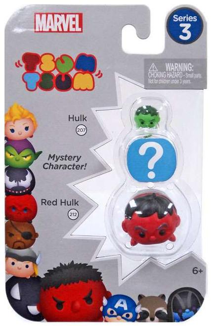 Marvel Tsum Tsum Series 3 Hulk & Red Hulk 1-Inch Minifigure 3-Pack #207 & 212