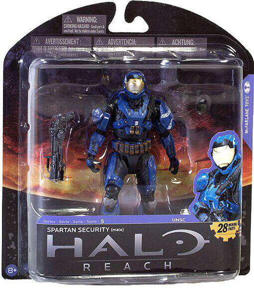 McFarlane Toys Halo Reach Series 5 Spartan Security Exclusive Action Figure [Blue, Loose]