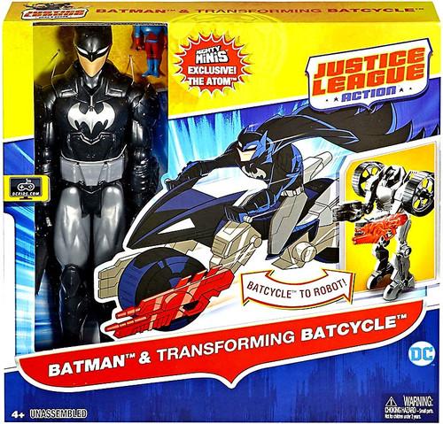 Justice League Batman & Transforming Batcycle Action Figure & Vehicle Set