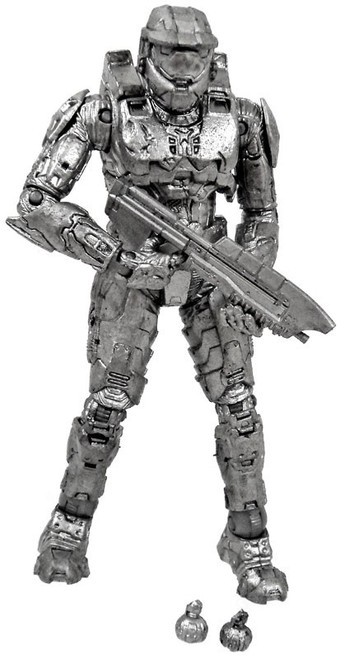 McFarlane Toys Halo 10th Anniversary Platinum Master Chief Exclusive Action Figure [Loose]
