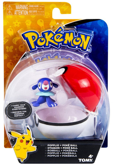 Pokemon Clip n Carry Pokeball Popplio & Poke Ball Figure Set