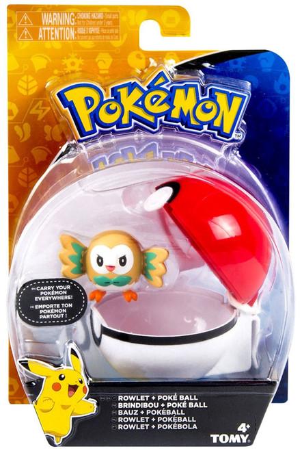 Pokemon Clip n Carry Pokeball Rowlet & Poke Ball Figure Set