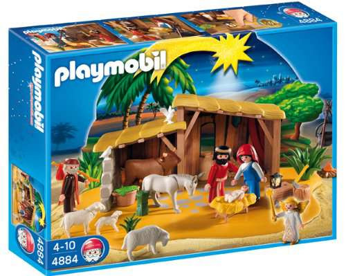 Playmobil Christmas Nativity Manger with Stable Set #4884 [Damaged Package]