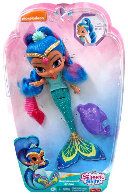 Fisher Price Shimmer & Shine Magic Mermaid Shine 9-Inch Basic Doll [Hair Changes Color]
