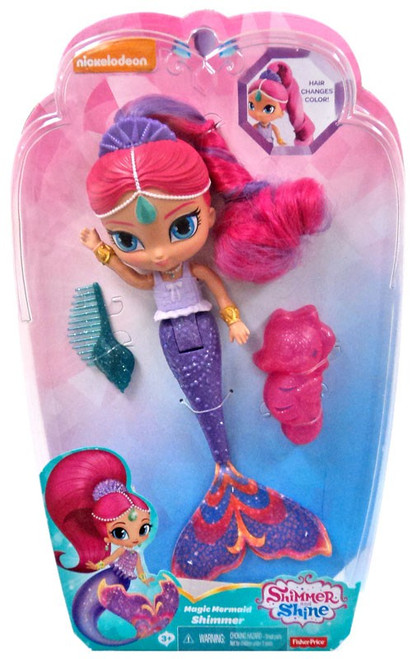 Fisher Price Shimmer & Shine Magic Mermaid Shimmer 9-Inch Basic Doll [Hair Changes Color]