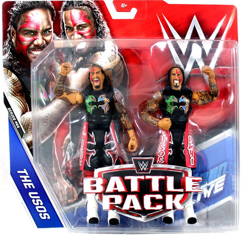 WWE Wrestling Battle Pack Series 44 Jimmy & Jey Uso Action Figure 2-Pack [The Usos]