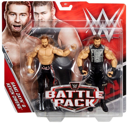 WWE Wrestling Battle Pack Series 44 Sami Zayn & Kevin Owens Action Figure 2-Pack