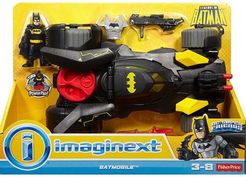 Fisher Price DC Super Friends Imaginext Batmobile Exclusive 3-Inch Figure Set [Black]