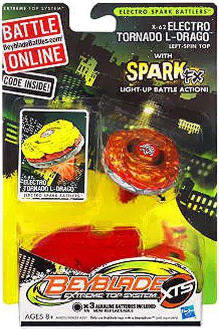 Beyblade XTS Electro Spark Battlers Electro Tornado L-Drago Single Pack X-62 [Loose]
