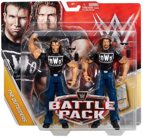 WWE Wrestling Battle Pack Series 44 Kevin Nash & Scott Hall Action Figure 2-Pack [The Outsiders]
