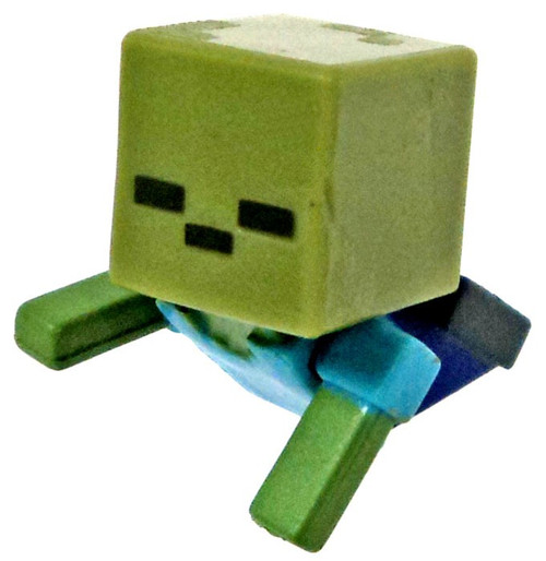 Minecraft Mob Pack Crawling Zombie 1-Inch Mini Figure [Loose]
