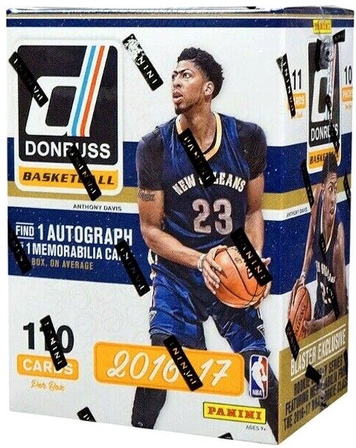 NBA Panini 2016-17 Donruss Basketball Trading Card BLASTER Box [10 Packs, 1 Autograph OR Memorabilia Card!]
