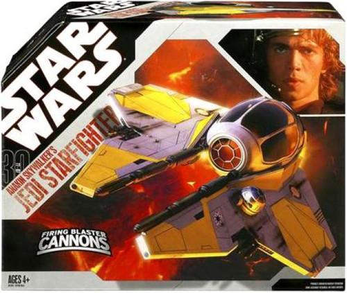 Star Wars Revenge of the Sith 2007 30th Anniversary Anakin Skywalker's Jedi Starfighter Action Figure Vehicle
