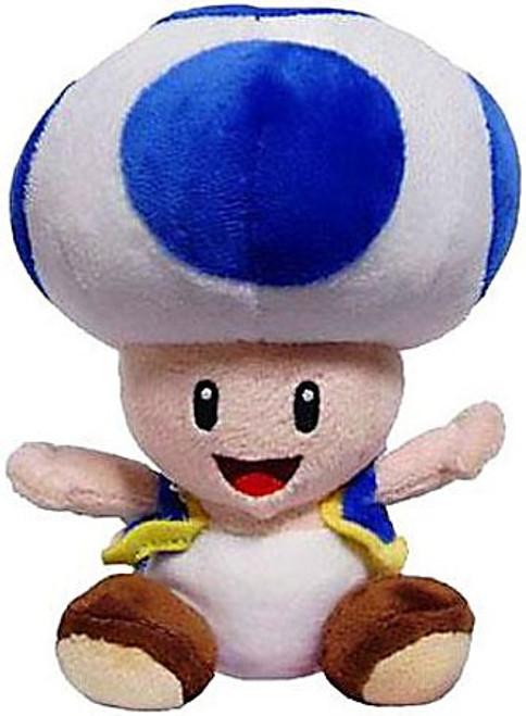 Nintendo Super Mario Toad 8-Inch Plush [Blue]