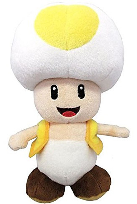 Nintendo Super Mario Toad 8-Inch Plush [Yellow]