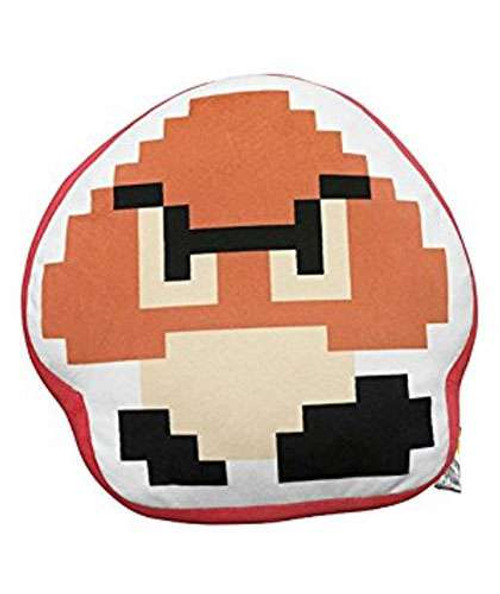 Super Mario Bros Goomba 8 Bit Plush Pillow