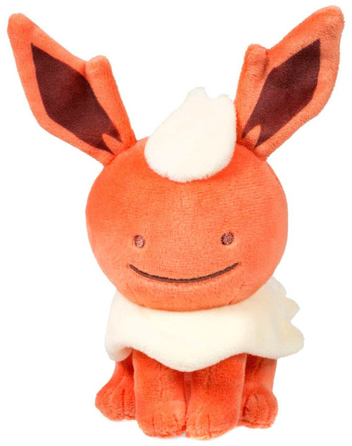 Pokemon Ditto as Flareon Exclusive 6.5-Inch Plush