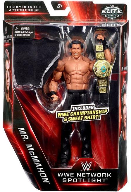 WWE Wrestling Elite Network Spotlight Mr. McMahon Exclusive Action Figure [WWE Championship & Sweat Shirt]
