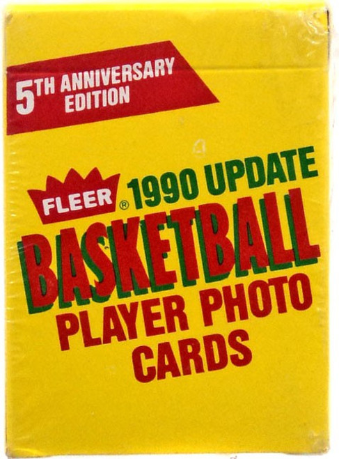 NBA 1990 Update Basketball Trading Card Set [5th Anniversary Edition, 100 Cards!]
