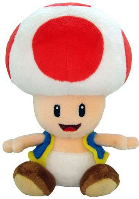 Super Mario Toad 8-Inch Plush